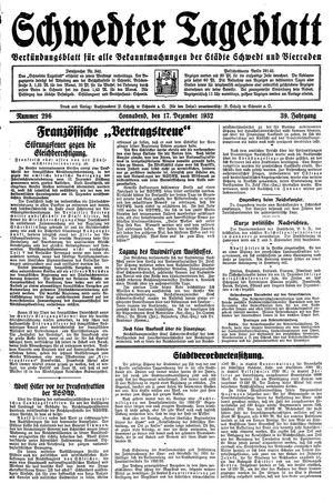 Schwedter Tageblatt vom 17.12.1932
