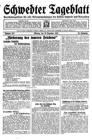 Schwedter Tageblatt on Dec 19, 1932
