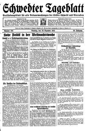Schwedter Tageblatt vom 20.12.1932