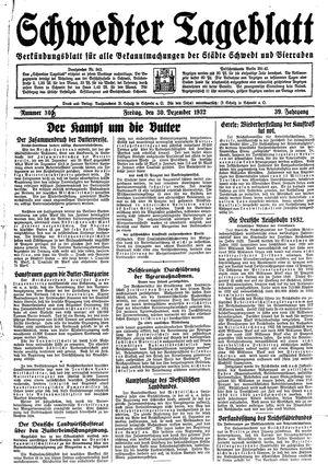 Schwedter Tageblatt vom 30.12.1932