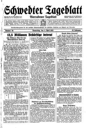 Schwedter Tageblatt vom 04.04.1935