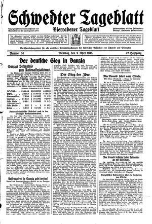 Schwedter Tageblatt vom 09.04.1935