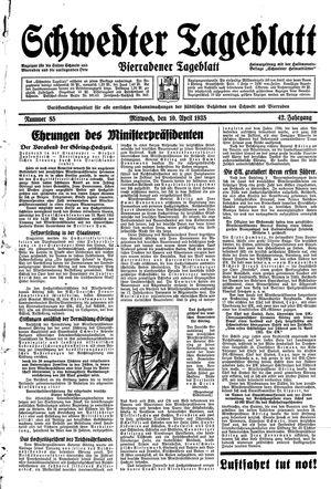 Schwedter Tageblatt vom 10.04.1935