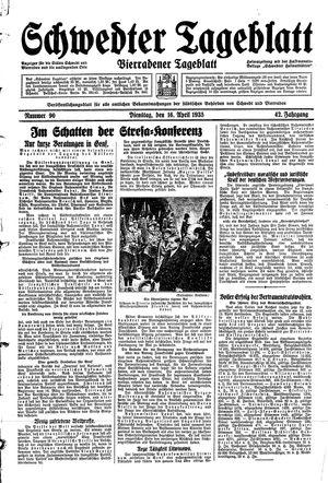 Schwedter Tageblatt vom 16.04.1935