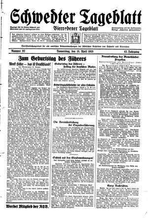Schwedter Tageblatt vom 18.04.1935