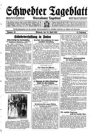 Schwedter Tageblatt vom 24.04.1935