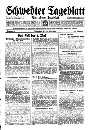 Schwedter Tageblatt vom 25.04.1935