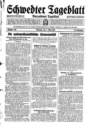 Schwedter Tageblatt vom 07.05.1935