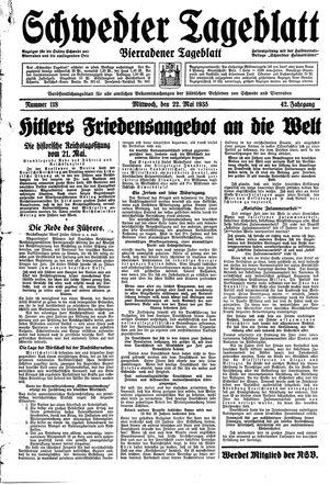 Schwedter Tageblatt vom 22.05.1935