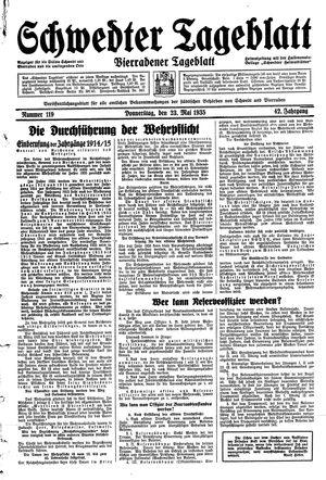 Schwedter Tageblatt on May 23, 1935