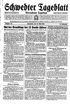 Schwedter Tageblatt on May 25, 1935