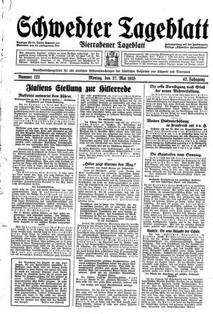 Schwedter Tageblatt vom 27.05.1935