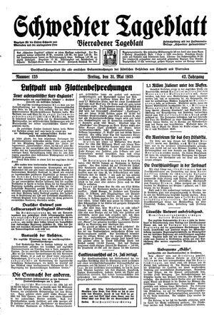 Schwedter Tageblatt vom 31.05.1935