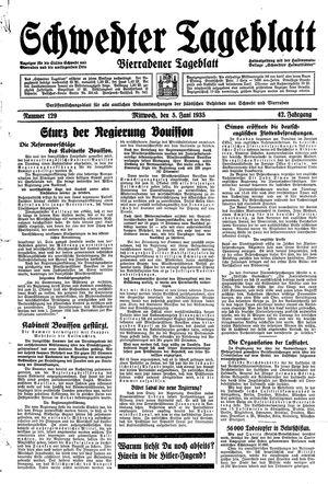 Schwedter Tageblatt vom 05.06.1935