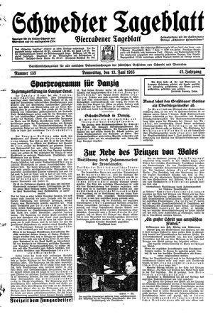 Schwedter Tageblatt vom 13.06.1935