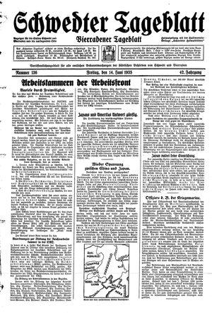 Schwedter Tageblatt vom 14.06.1935