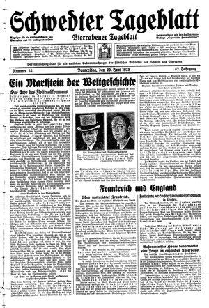 Schwedter Tageblatt vom 20.06.1935