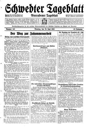 Schwedter Tageblatt vom 25.06.1935