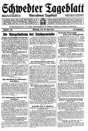 Schwedter Tageblatt vom 26.06.1935