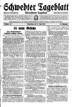 Schwedter Tageblatt vom 27.06.1935