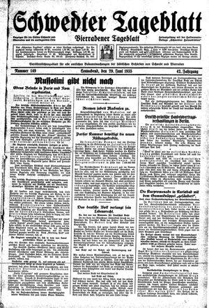Schwedter Tageblatt vom 29.06.1935