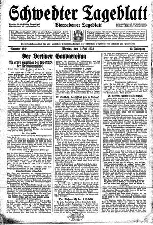 Schwedter Tageblatt vom 01.07.1935