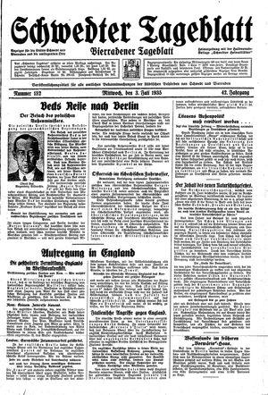 Schwedter Tageblatt vom 03.07.1935