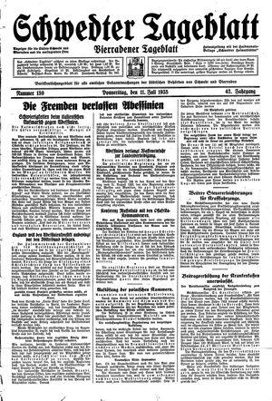 Schwedter Tageblatt vom 11.07.1935