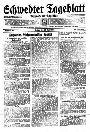 Schwedter Tageblatt vom 12.07.1935