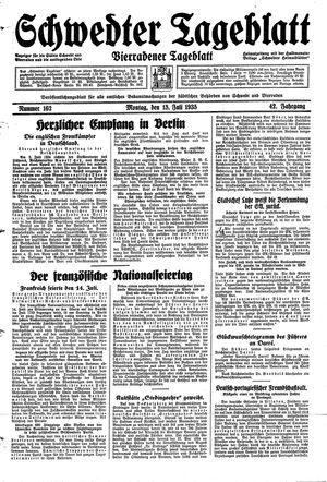 Schwedter Tageblatt vom 15.07.1935