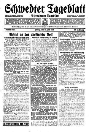 Schwedter Tageblatt vom 19.07.1935