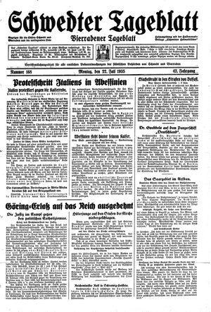 Schwedter Tageblatt on Jul 22, 1935