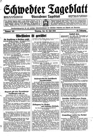 Schwedter Tageblatt vom 23.07.1935
