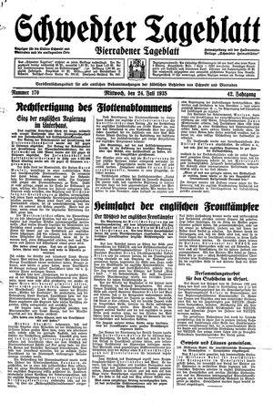 Schwedter Tageblatt vom 24.07.1935