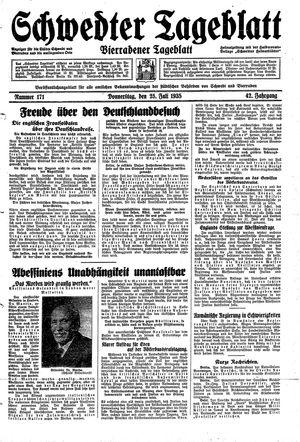 Schwedter Tageblatt vom 25.07.1935
