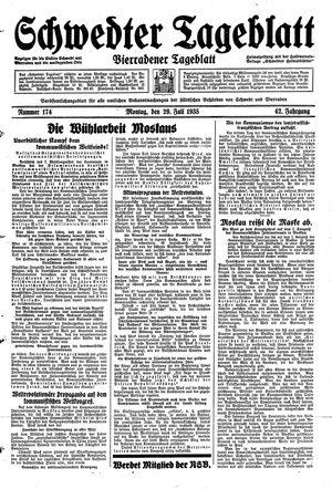 Schwedter Tageblatt vom 29.07.1935