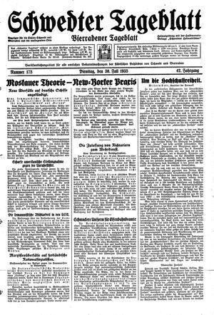 Schwedter Tageblatt vom 30.07.1935