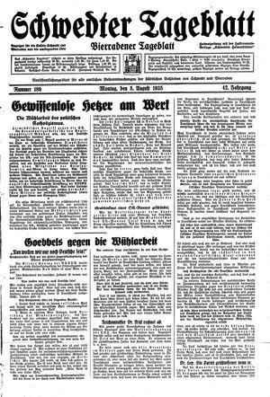 Schwedter Tageblatt vom 05.08.1935