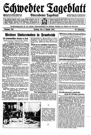 Schwedter Tageblatt vom 09.08.1935