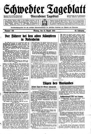 Schwedter Tageblatt vom 12.08.1935