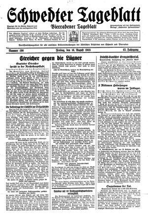 Schwedter Tageblatt vom 16.08.1935