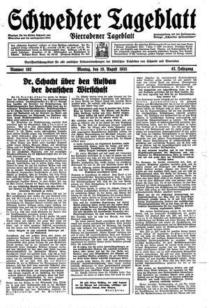 Schwedter Tageblatt vom 19.08.1935