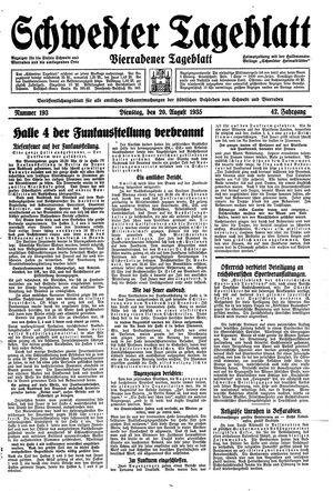 Schwedter Tageblatt vom 20.08.1935