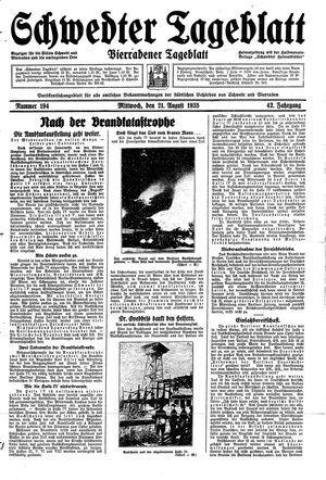 Schwedter Tageblatt vom 21.08.1935