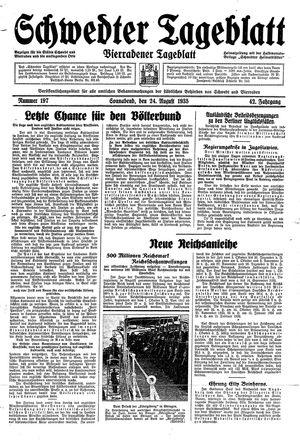 Schwedter Tageblatt vom 24.08.1935
