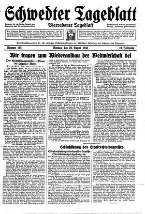 Schwedter Tageblatt vom 26.08.1935