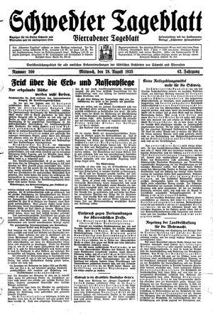 Schwedter Tageblatt vom 28.08.1935