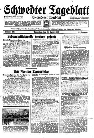 Schwedter Tageblatt vom 29.08.1935