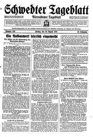 Schwedter Tageblatt vom 30.08.1935