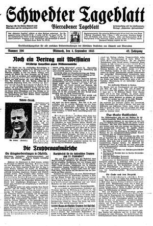 Schwedter Tageblatt vom 04.09.1935